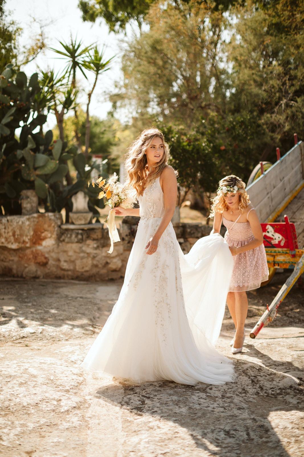 abito da sposa matrimonio primavera puglia